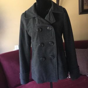 Aeropostale Charcoal Gray Peacoat
